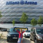 Vor der Allianz Arena, München